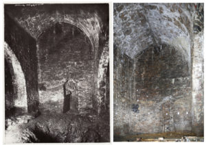 Altbergbau 3D: Gegenüberstellung der historischen Aufnahme von 1928 mit der heutigen Situation.